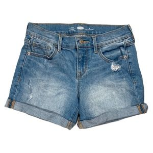 Old Navy Rolled Hem Fitted Jean Shorts